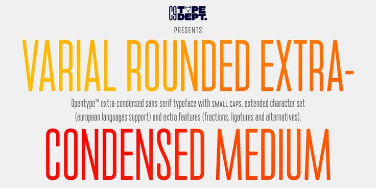 Varial Medium & Varial Rounded Medium typefaces by Cloud9 Type Dept.