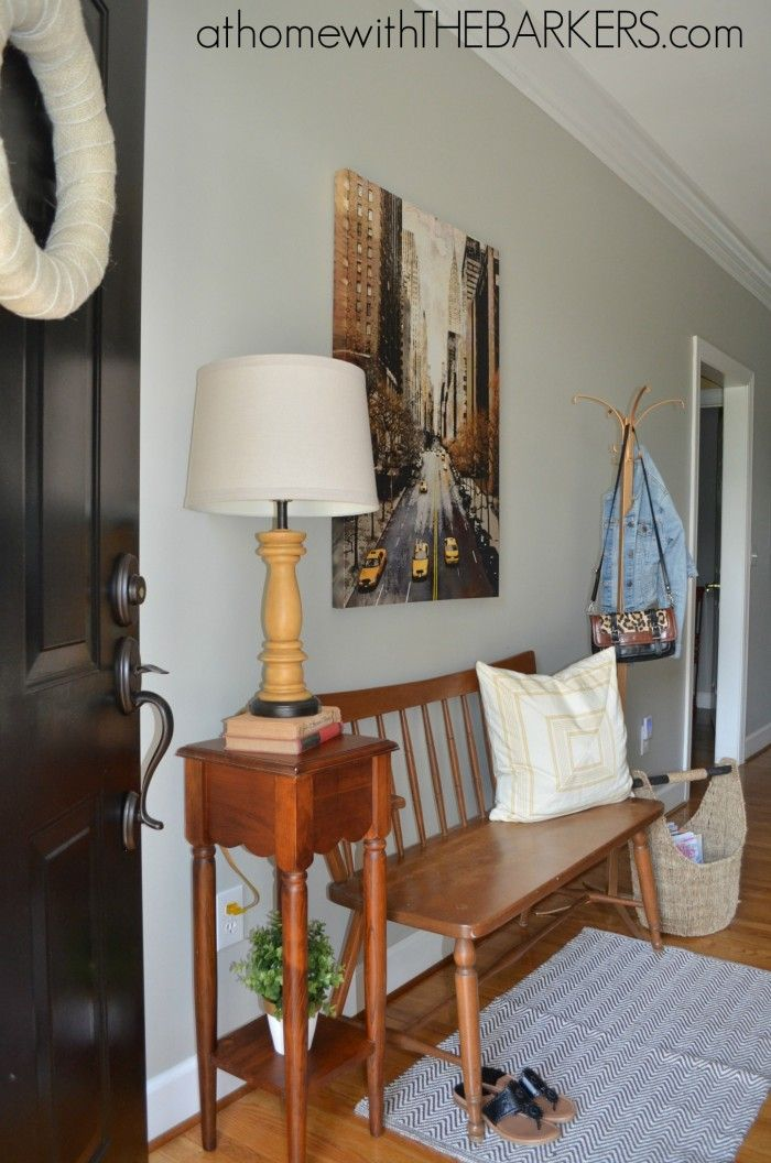 One Space Three Ways {a Redesign Challenge. Entryway TablesEntry FoyerEntryway  IdeasEntrance HallDiy Home ... Part 90