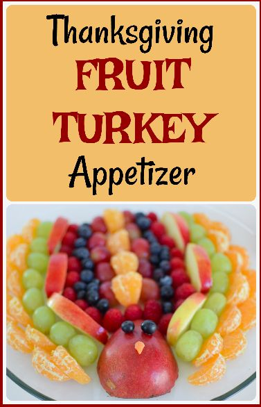 Healthy and EASY fruit turkey appetizer for Thanksgiving! Super simple for the kids to make.