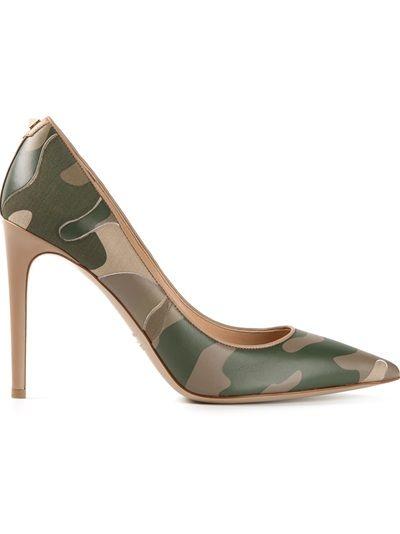 Valentino Garavani Sapato Verde Camuflado