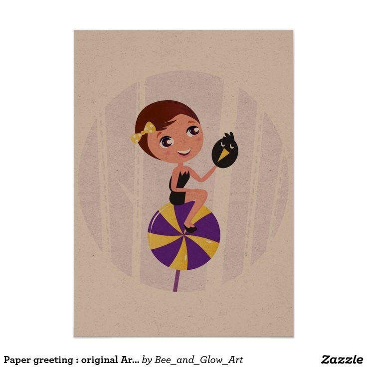 Paper greeting : original Artwork
