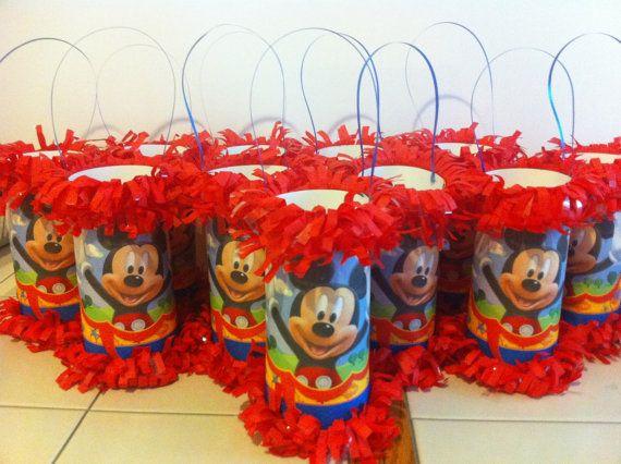Mickey Mouse Mini Pinata Party Favor/Goodie Bag by KrystalsPinatas, $2.00