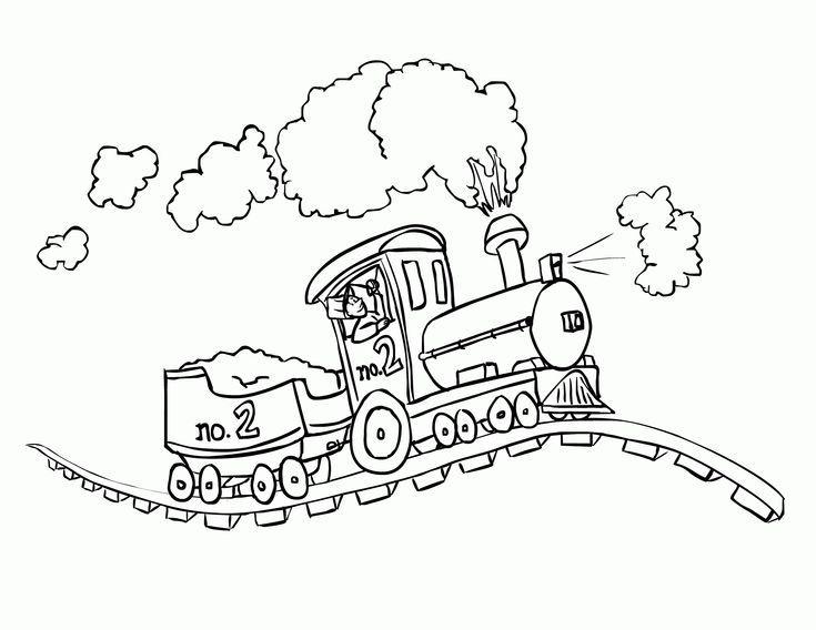 Ausmalbilder Eisenbahn Train Coloring Pages Cartoon Coloring