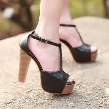 Zapatillas De Tacon Grueso