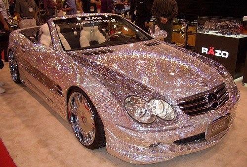 Diamond Encrusted Car: Diamond Encrusted Mercedes