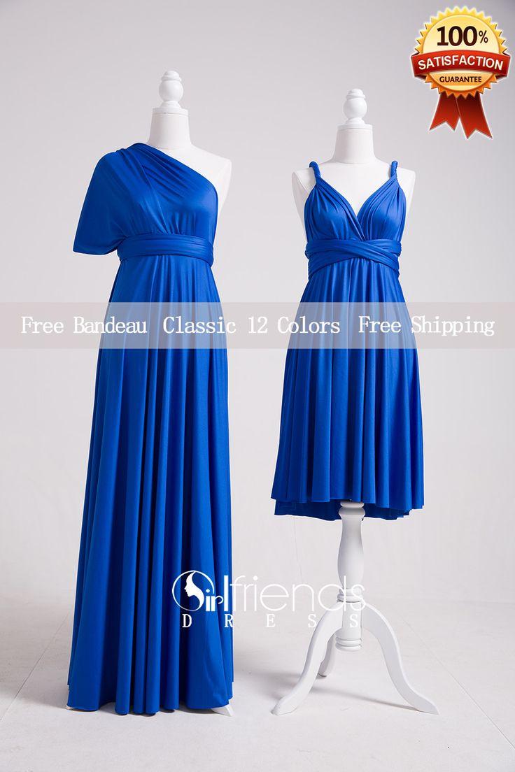 Royal Blue Bridesmaid Dresses,Convertible Bridesmaid Dress Long,Convertible Maxi Dress,Infinity Wrap Dress,Multiway Dress,Twist Wrap Dress