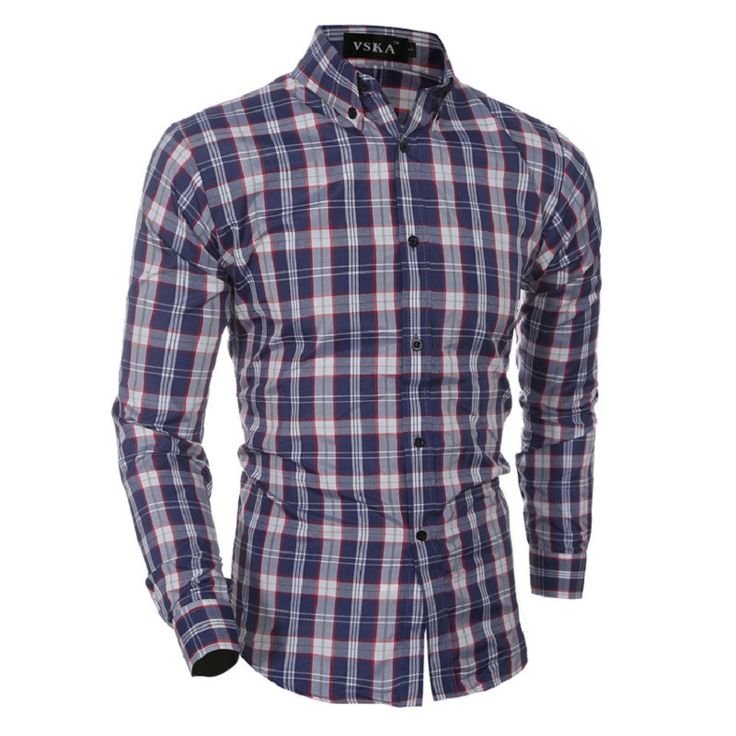 Fall 2017New Mens Casual Plaid Shirts Long Sleeve Slim Fit Comfort Soft Flannel Shirt Leisure Styles Man Clothes