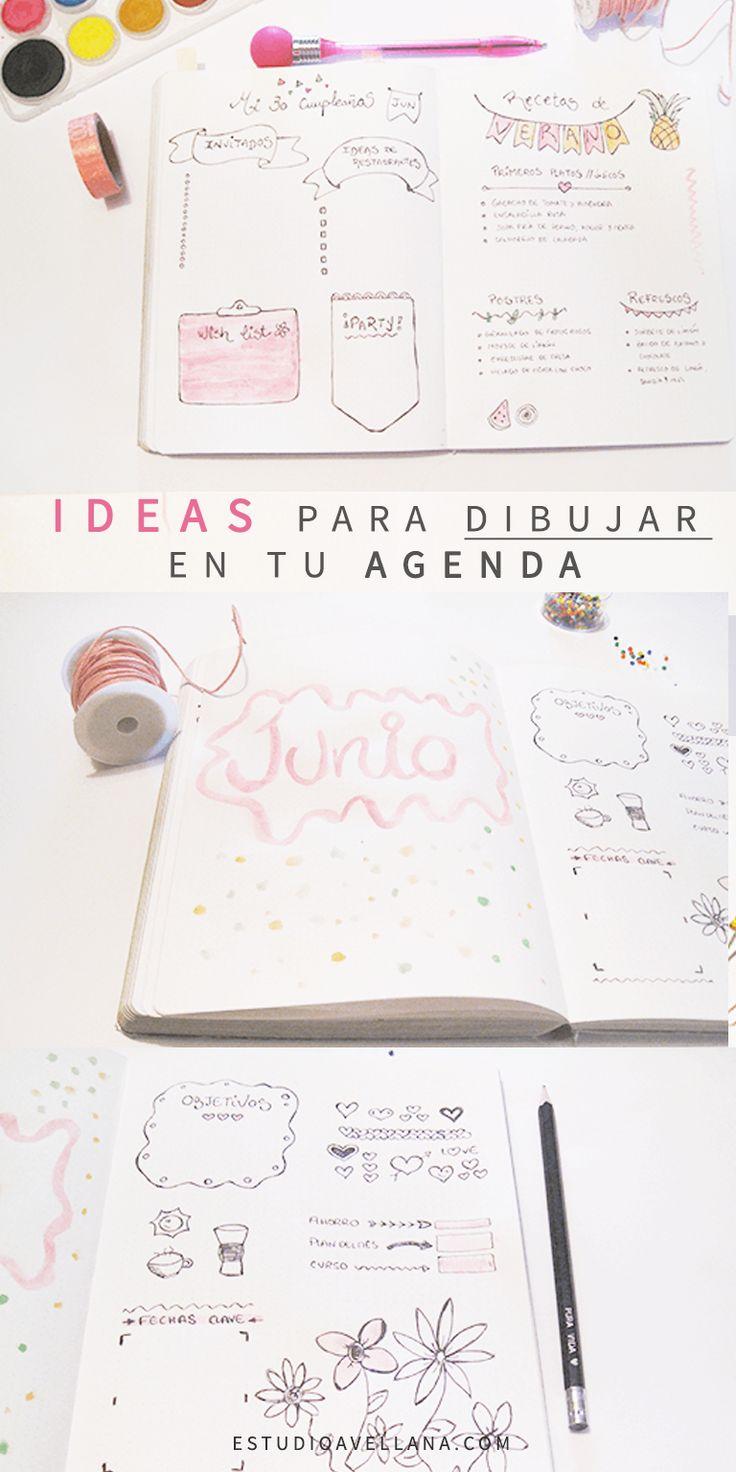 Ideas de Agendas decoradas :)