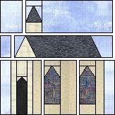 Church paper piecing quilt pattern
