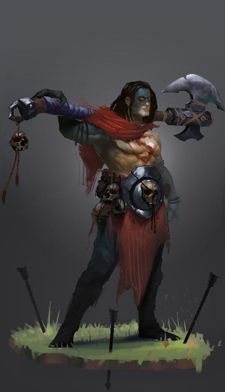 Barbarian  Kal-El . (Superman), Bogdan T on ArtStation at https://www.artstation.com/artwork/barbarian-kal-el-superman