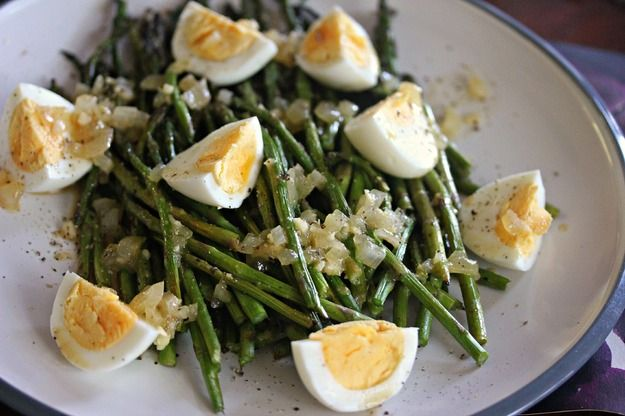 Grilled Asparagus With Hard-Boiled Eggs and Crispin Cider Vinaigrette
