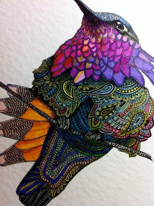 Stitched bird