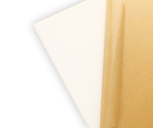 """Cast Acrylic Sheet, Translucent White, 12"""" X 12"""" X 0.118"""" Size, 2015 Amazon Top Rated Plastics #BISS"""