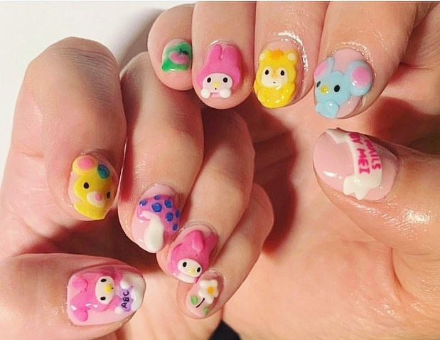 Hello Kitty On Instagram Nailsbymei Giving Us Some Major My Melody Nail Art Inspo This Weekend Wo In 2020 Hello Kitty Nails Art Hello Kitty Nails Kawaii Nails