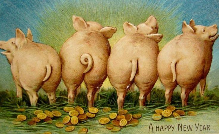 Гифки смешные с новым годом свиньи, нарисовать девочке день