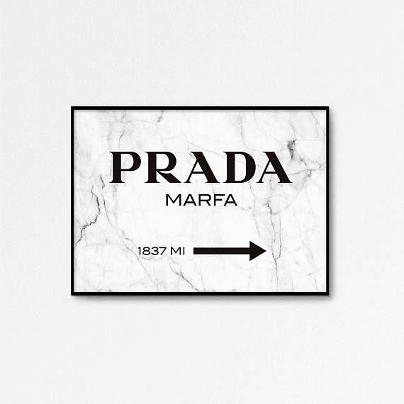 Prada Marfa Print Prada Marfa Art Marble Decor Prada Poster Fashion Print 24x36 Print High Fashion Marble Print Parede De Quadros Quadros Imagens Fofas
