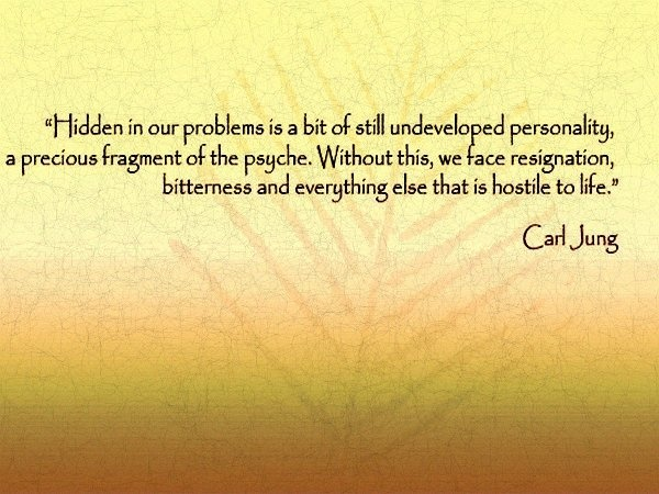 Hidden within our problems... ~Carl Jung: Faces Resignation, Depth Psychology, Photo