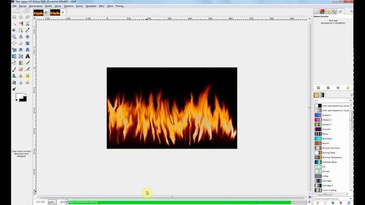 Animacja w Gimp - Ogień