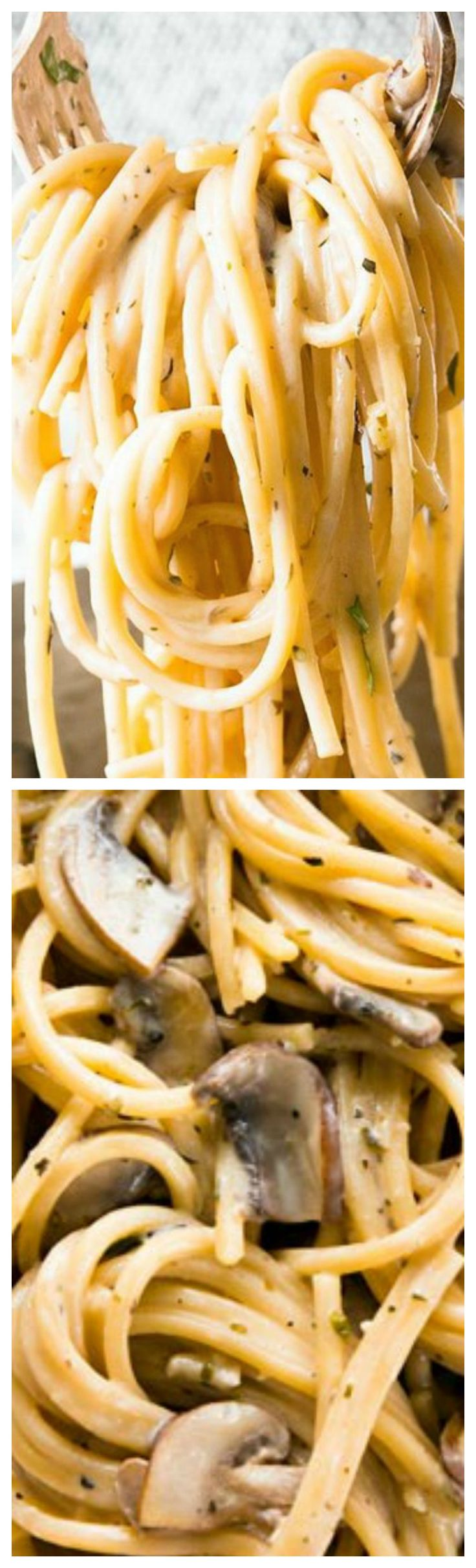 One Pot Garlic Butter Parmesan Mushroom Pasta ~ SO easy to make, ready in less than 30 minutes with barely any effort... Your family will love it!