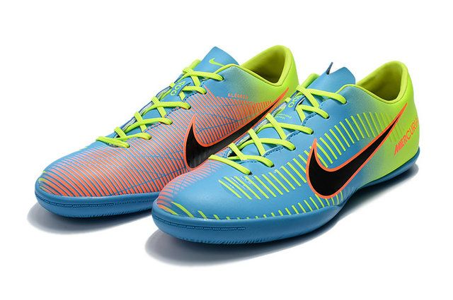 f0816457ef1d Nike Mercurial Victory Vi Ic Football Boots Blue Yellow Orange Black Shoe