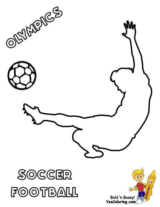 soccer game coloring pages - photo#26