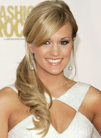 Carrie Underwood Hairstyles Side Ponytail