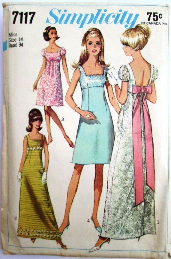 Gorgeous Simplicity 7117 Empire Waist Dress Pattern by Denisecraft, $7.99