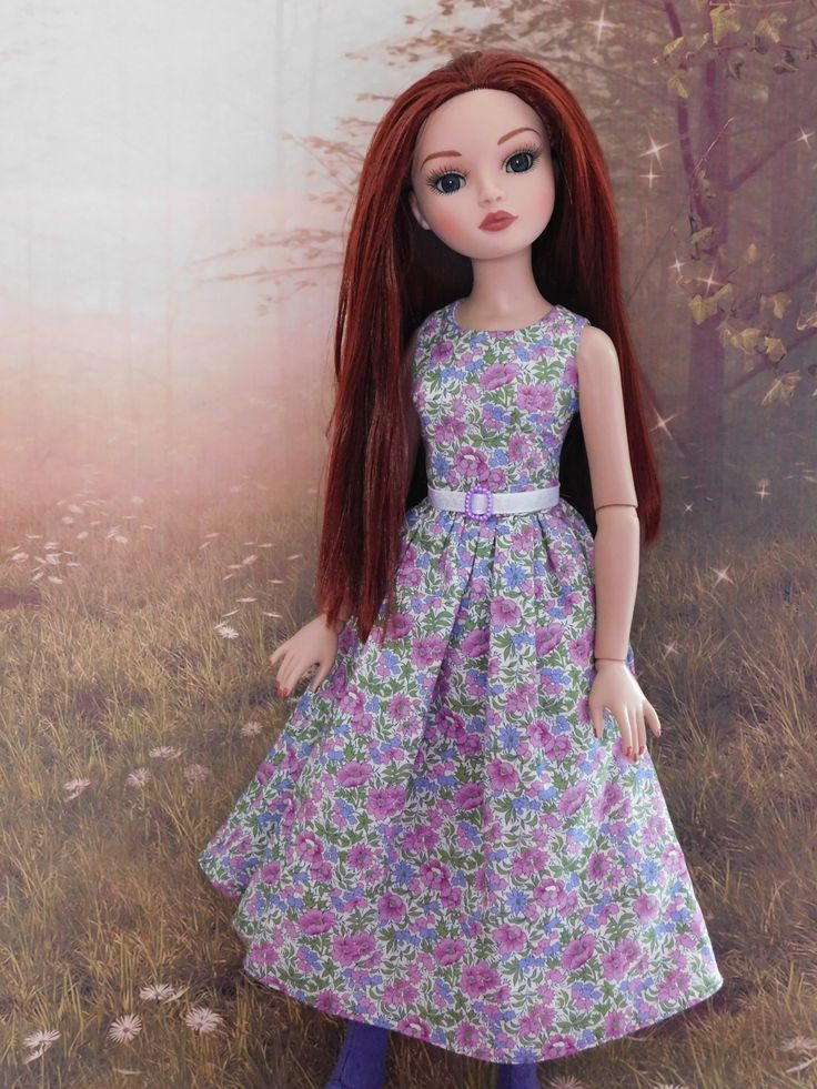 https://flic.kr/p/RLCYQ9 | Kendra's new outfit | Kendra has a new outfit... first up is her new dress... made in Liberty Tana Lawn Rosalind from Raccoon's Rags pattern SSP035 50s style dress