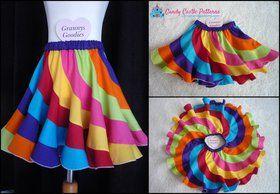 Peppermint Swirl Skirt Tutorial for adding a waistband to the skirt