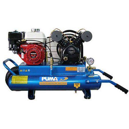 Puma Industries Air Compressor, PUK-5508G, Single Stage Gas Powered Belt Drive Series, 5.5 HP Running, 135 Max PSI, Honda Engine, 8 Gallons, 183 lbs