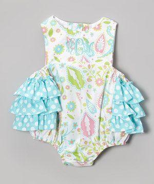 Look at this #zulilyfind! White Paisley Monogram Bubble Bodysuit - Infant by Orient Expressed #zulilyfinds