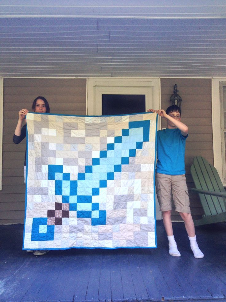 Minecraft Diamond Sword Quilt | Weeknight Quilting