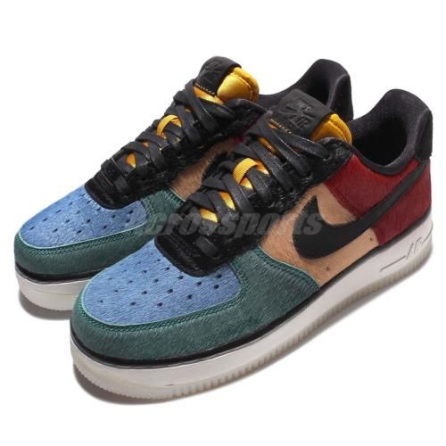 Wmns nike air force 1 07 prm #multicolor pony fur pack #rainbow #women