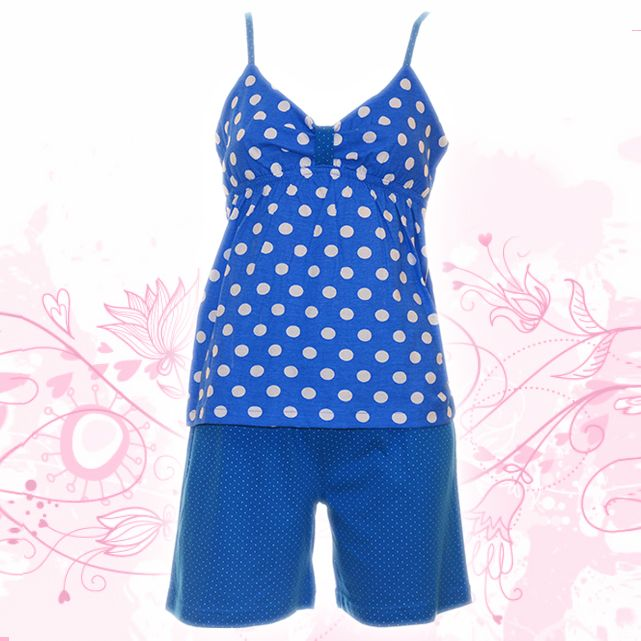 Summer blue, summer fun Woman's Cotton Pajamas babydoll Poids