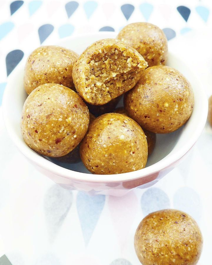 Cashewkugler med tahin | Cashew balls with tahini - Fit Food by Fine