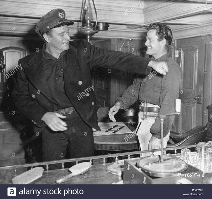 John Wayne Gig Young Tournage On The Set Directed By Edward Ludwig Stock Photo, Royalty Free Image: 22263967 - Alamy