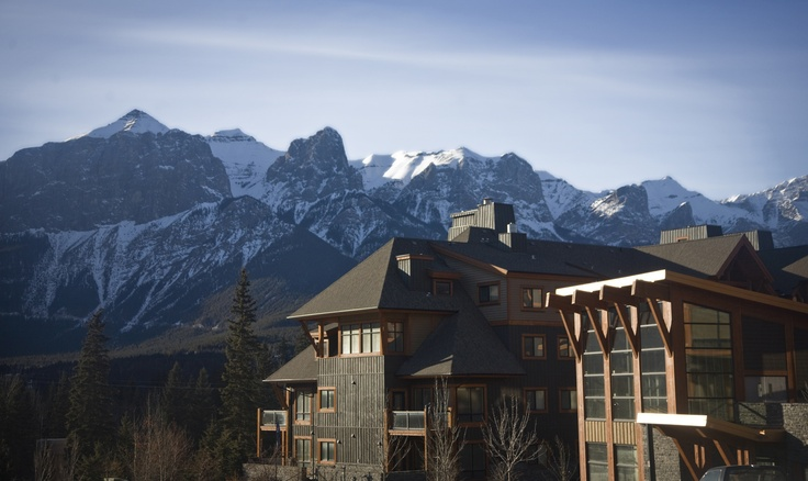 Exterior view at Solara Resort & Spa in Canmore, AB!