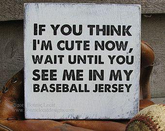baseball+themed+nursery+ideas | Team Art // Rustic Baseball Sign // Baby Boy Nursery // Baby Baseball ...