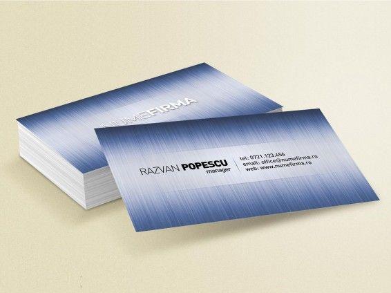"""Model carti de vizita """"Metallic Blue"""""""