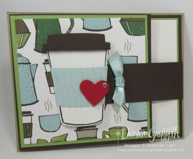 Fun Fold Flap card video posted on my blog today . check out all the details on this fun coffee card Dawn Griffith
