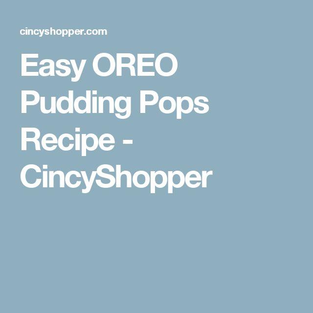 Easy OREO Pudding Pops Recipe - CincyShopper