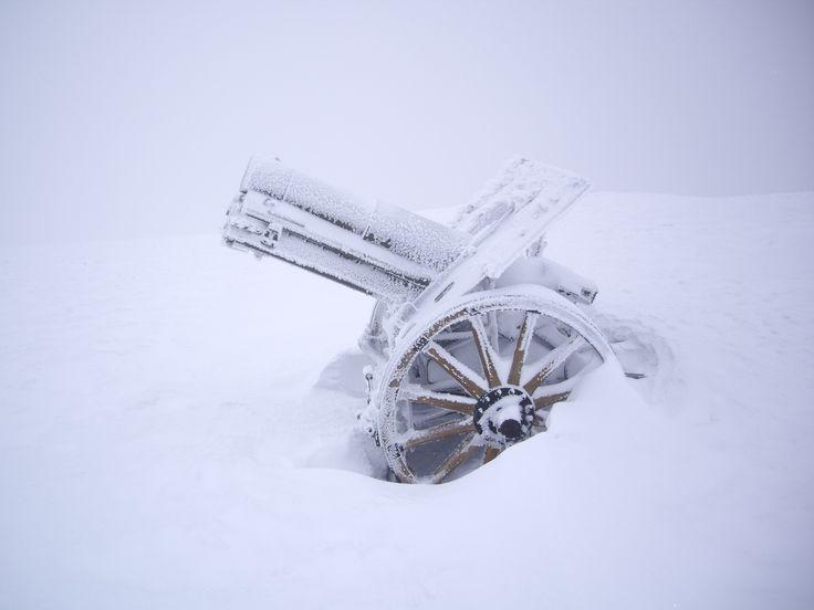 Cannone Cima Grappa, winter (Italy)