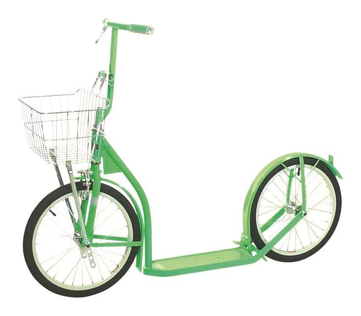 "12"" CHILDREN'S SCOOTER Genuine Amish Child Foot Bike w/ Basket & Brake in Bright Colors"