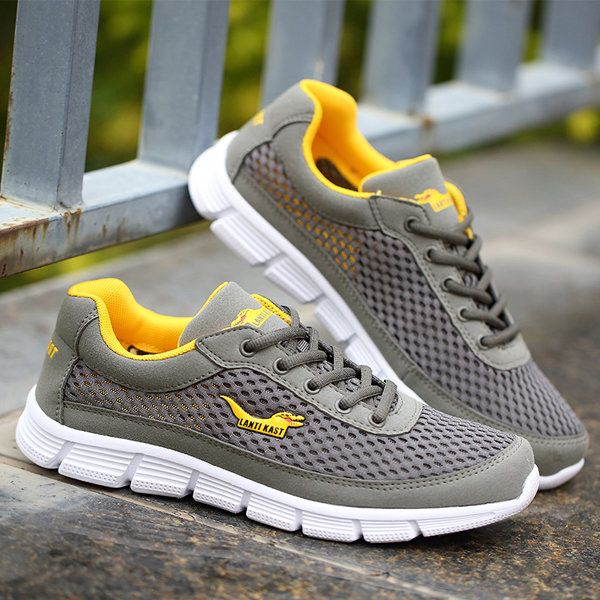 Men Sport Shoes Outdoor Mesh Breathable Comfortable Casual Lace-Up Athletic Shoe - US$37.96