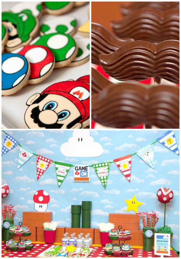 Fiesta temática para niño de Mario Bros