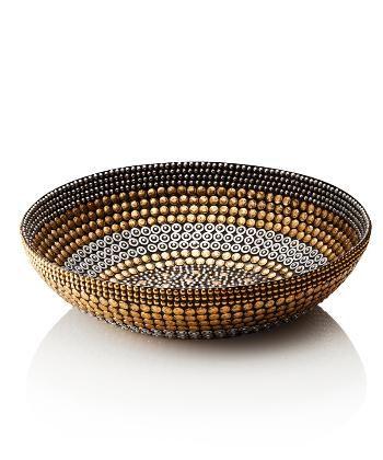 Black Silver Gold Large Bowl Decor - Decorative Bowls/Plates