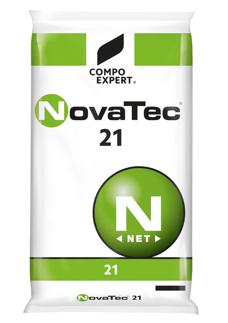 NovaTec® 21 Σύνθεση: 21% N (100% αμμωνιακής μορφής), 24% S (υδατοδιαλυτό).  Κοκκώδες αζωτούχο λίπασμα με παρεμποδιστή νιτροποίησης του αζώτου (DMPP),κατάλληλο για κάθε καλλιέργεια.     Συσκευασία: σάκοι των 40 κιλών.