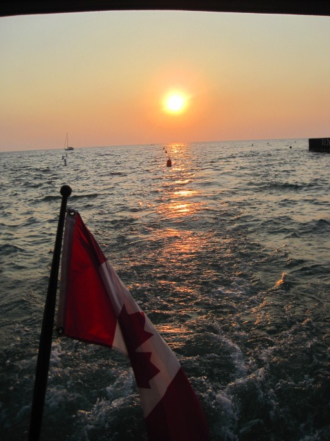 this is two places i love; being on the water and watching sunsets in Grand Bend