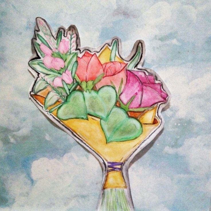 #Flores #Acuarelas #Colores