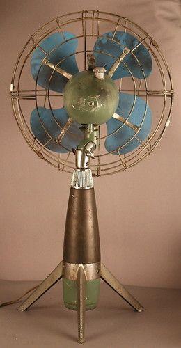 Rocket SHIP Fan Vintage Mid Century Modern Bullet Streamline 50's 60's Space Age | eBay